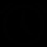 icon: black lined alarm clock icon